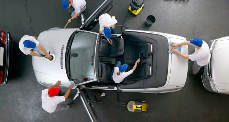 What are the steps to clean a car