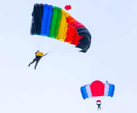 During The Parachuting