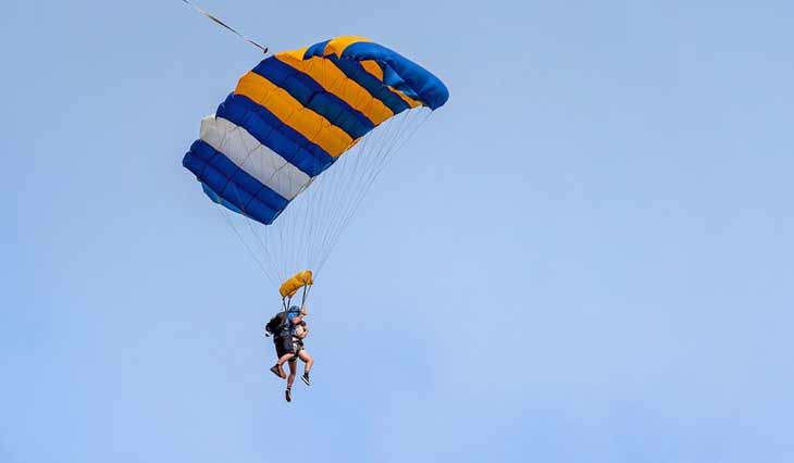 Safely To the Ground With A Parachute